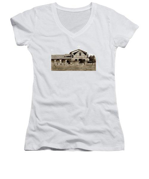 Mission San Antonio De Padua California Circa 1885 Women's V-Neck T-Shirt