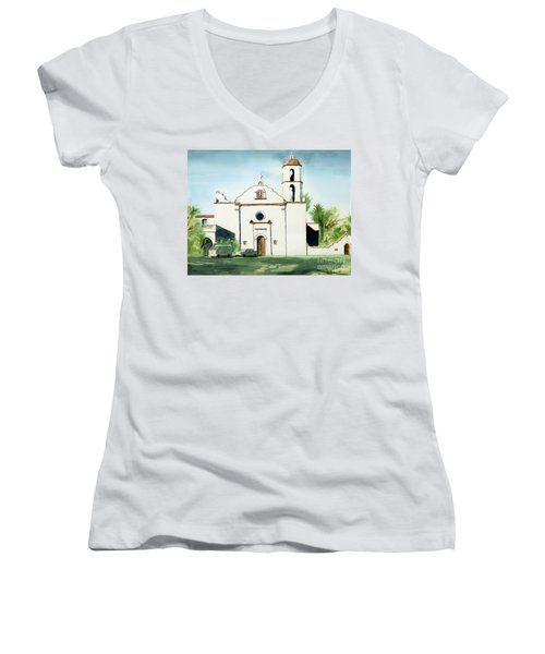Mission San Luis Rey Colorful II Women's V-Neck