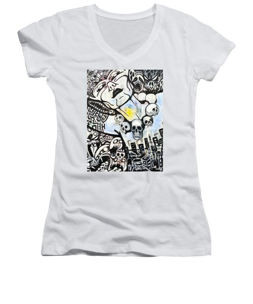 Modern Bride Women's V-Neck T-Shirt (Junior Cut) by Yelena Tylkina