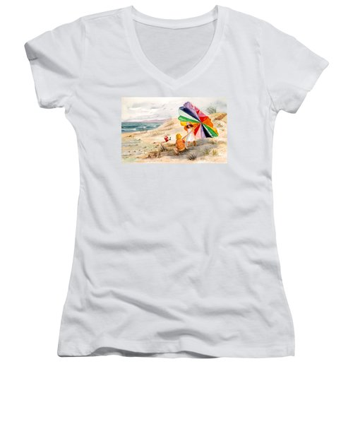 Moments To Remember Women's V-Neck T-Shirt (Junior Cut) by Marilyn Smith