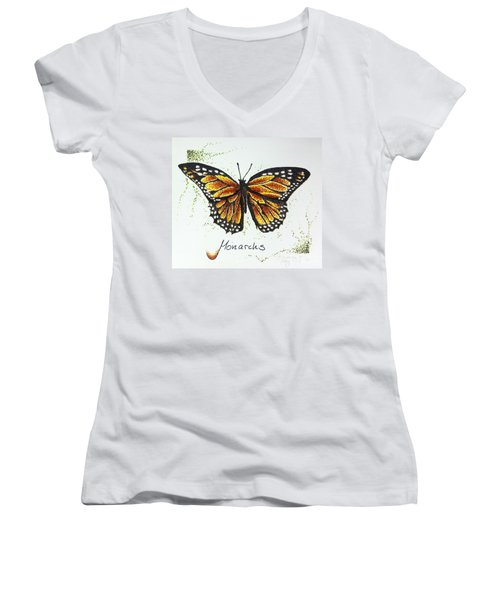 Monarchs - Butterfly Women's V-Neck (Athletic Fit)