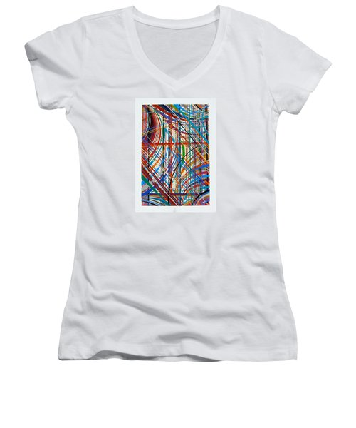Monday Morning Women's V-Neck T-Shirt (Junior Cut) by Alan Johnson