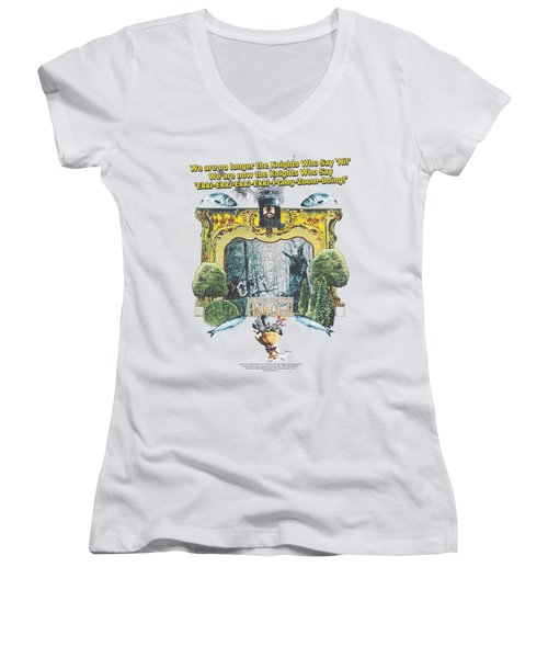 Monty Python - Knights Of Ni Women's V-Neck T-Shirt (Junior Cut) by Brand A