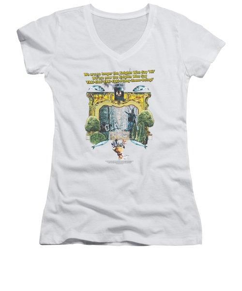 Monty Python - Knights Of Ni Women's V-Neck T-Shirt