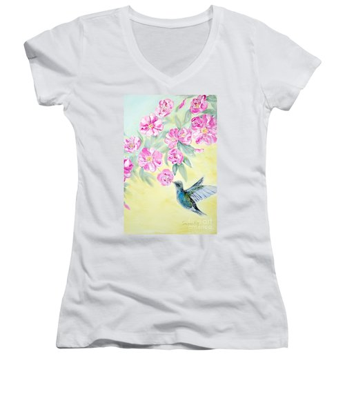 Morning In My Garden. Card Women's V-Neck (Athletic Fit)