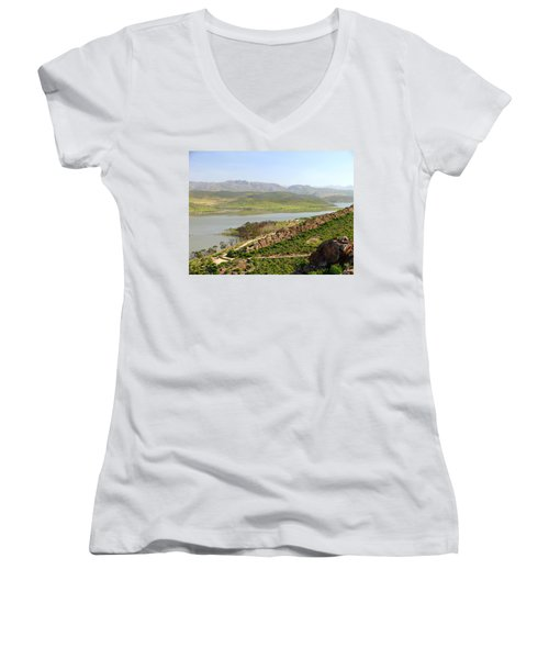 Moroccan Countryside 1 Women's V-Neck (Athletic Fit)