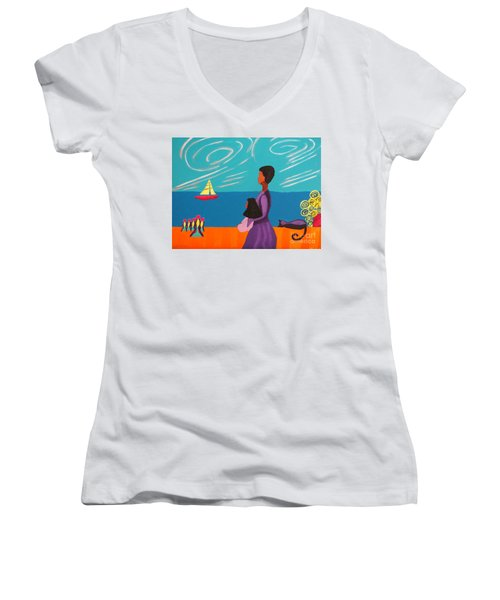 Mother And Daughter Women's V-Neck (Athletic Fit)