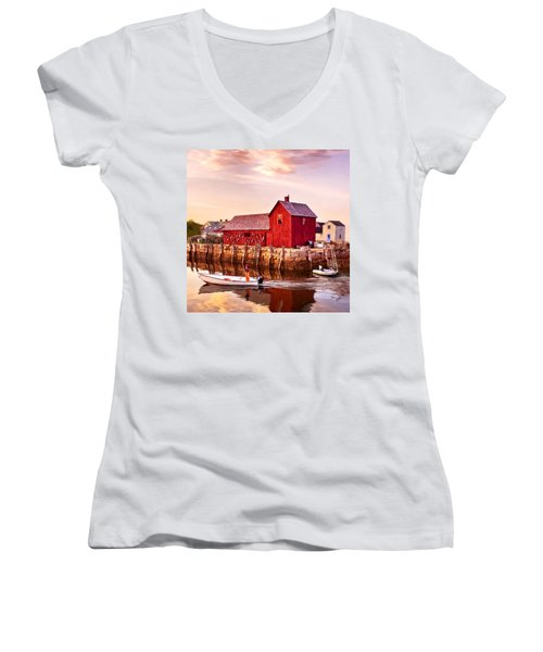Motif Number One Rockport Massachusetts  Women's V-Neck
