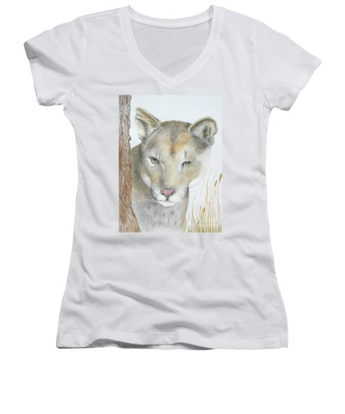 Mountain Hunter Women's V-Neck (Athletic Fit)