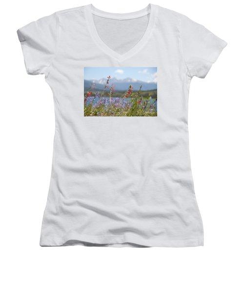 Mountain Wildflowers Women's V-Neck