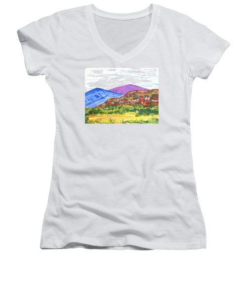 Mountains And South Mesa Women's V-Neck T-Shirt