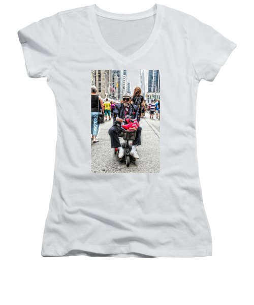 Women's V-Neck featuring the photograph Mr. Mobile by Alice Gipson