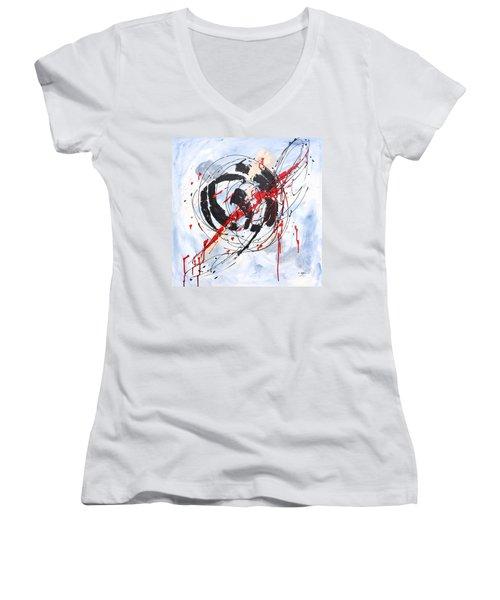 Musical Abstract 002 Women's V-Neck