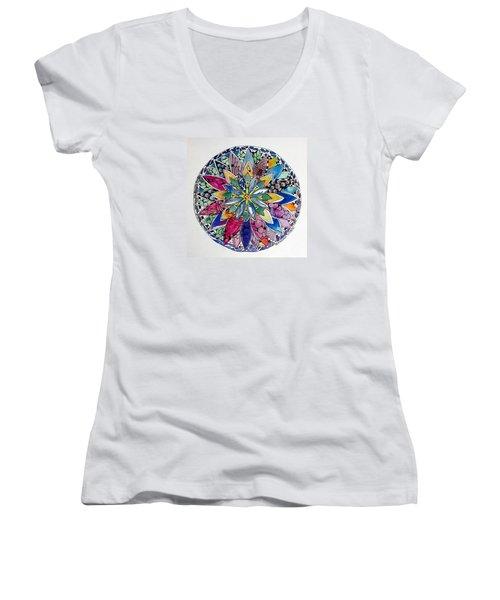 Spring Mandala Women's V-Neck