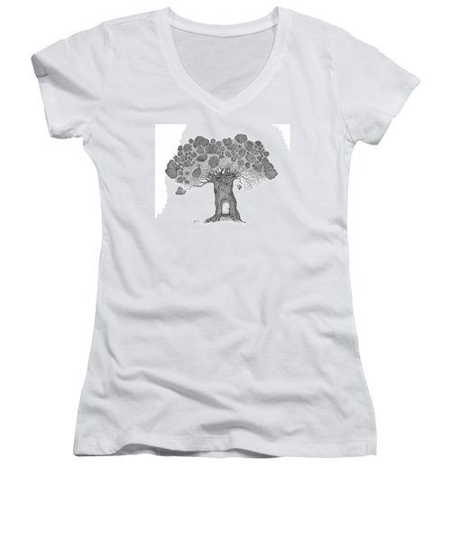 My House Women's V-Neck (Athletic Fit)