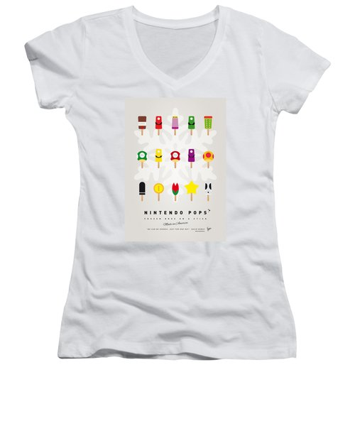 My Mario Ice Pop - Univers Women's V-Neck (Athletic Fit)