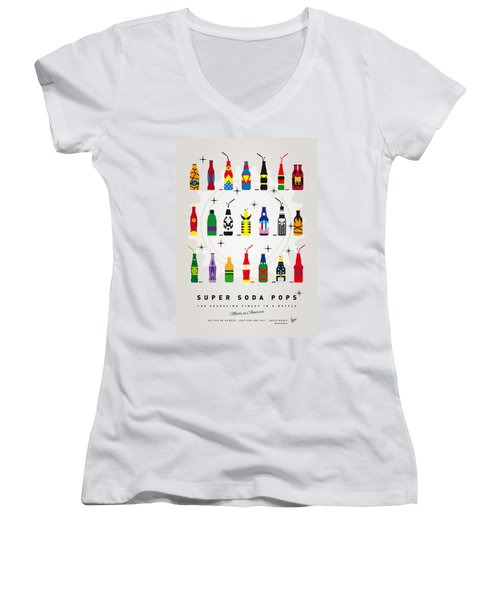My Super Soda Pops No-00 Women's V-Neck T-Shirt