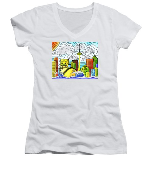 My Toronto Women's V-Neck T-Shirt (Junior Cut) by Oiyee At Oystudio