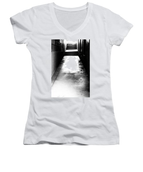 Mysterious Walkway Women's V-Neck T-Shirt (Junior Cut) by Shelby  Young