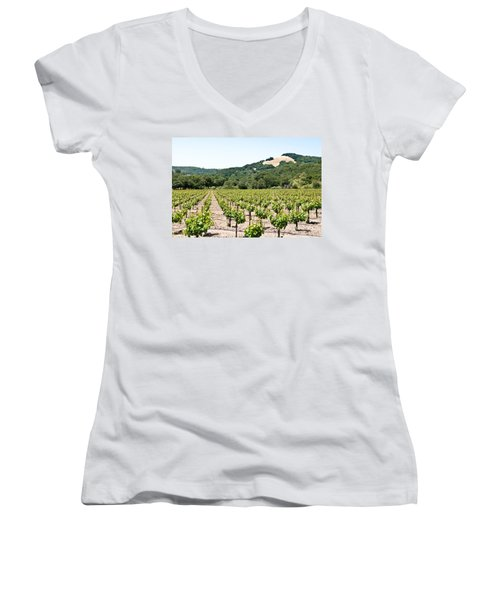 Napa Vineyard With Hills Women's V-Neck