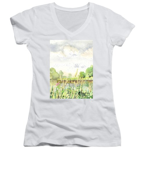 Napanee River West Women's V-Neck (Athletic Fit)