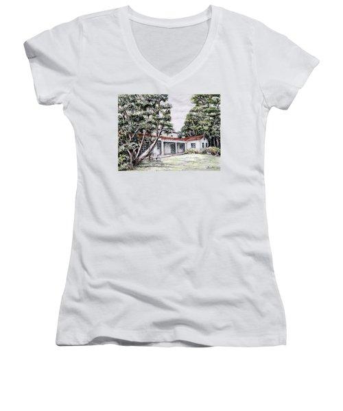 Nature And Architecture Women's V-Neck T-Shirt (Junior Cut) by Danuta Bennett
