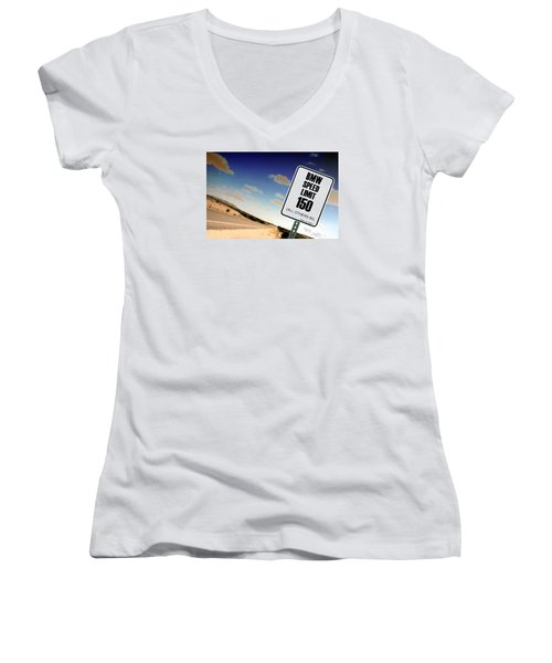 New Limits  Women's V-Neck T-Shirt