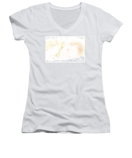 Baby Girl Too Women's V-Neck (Athletic Fit)