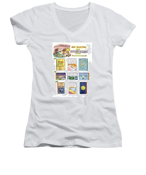 New Selections From The Out Like A Light Book Women's V-Neck
