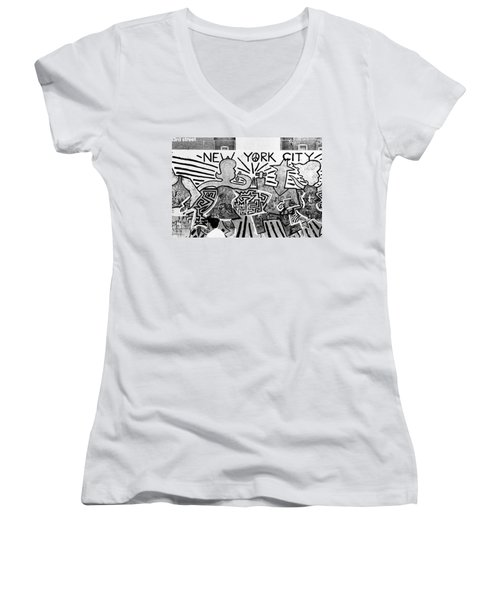 New York City Graffiti Women's V-Neck