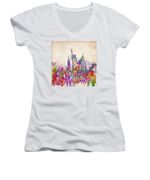 New York City Tribute 2 Women's V-Neck T-Shirt
