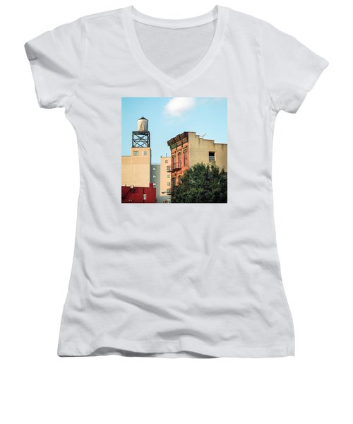 New York Water Tower 3 Women's V-Neck