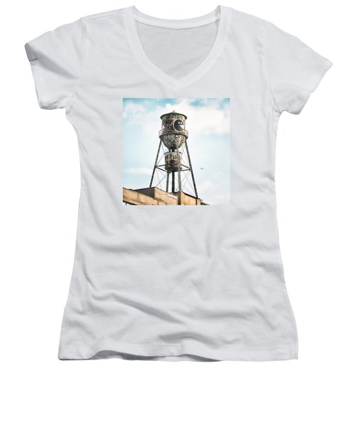 New York Water Towers 9 - Bed Stuy Brooklyn Women's V-Neck