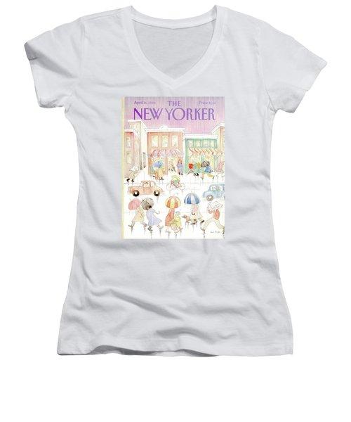 New Yorker April 16th, 1984 Women's V-Neck