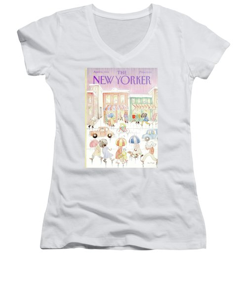 New Yorker April 16th, 1984 Women's V-Neck