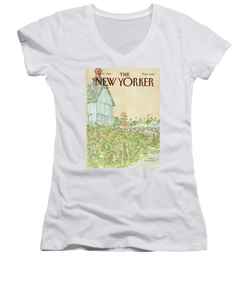 New Yorker August 27th, 1984 Women's V-Neck