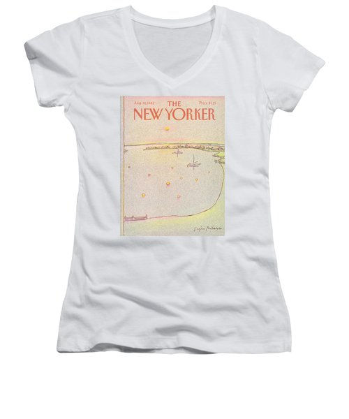 New Yorker August 30th, 1982 Women's V-Neck