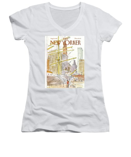 New Yorker August 31st, 1981 Women's V-Neck