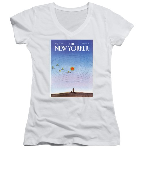 New Yorker August 31st, 1987 Women's V-Neck