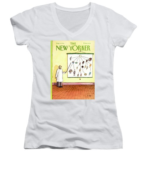New Yorker August 4th, 1986 Women's V-Neck