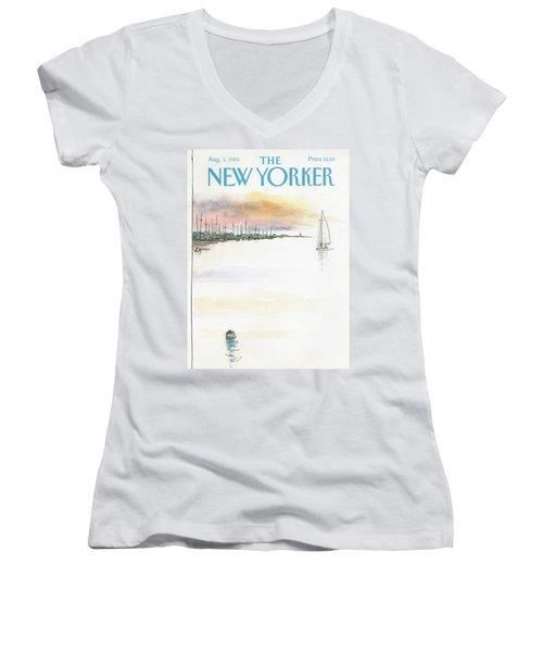 New Yorker August 5th, 1985 Women's V-Neck