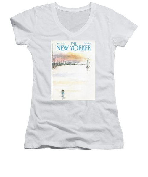 New Yorker August 5th, 1985 Women's V-Neck