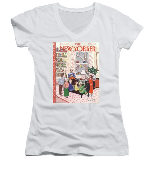 New Yorker December 10th, 1990 Women's V-Neck