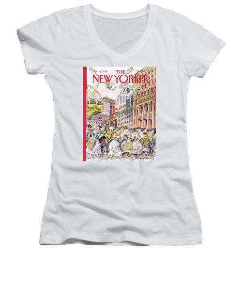 New Yorker December 13th, 1993 Women's V-Neck