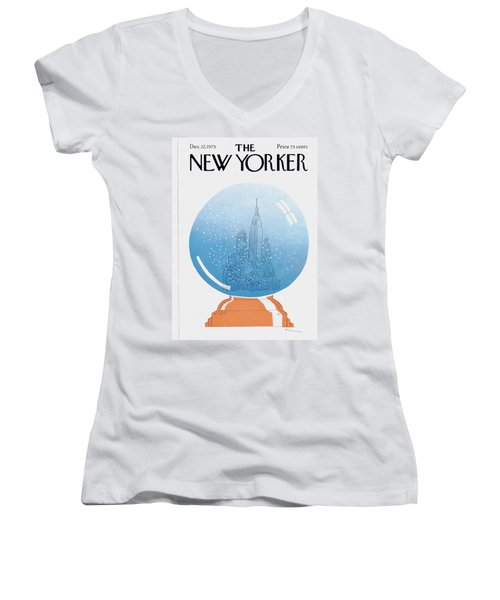 New Yorker December 22nd, 1975 Women's V-Neck