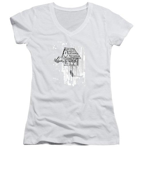 New Yorker February 10th, 1997 Women's V-Neck T-Shirt (Junior Cut) by Bill Woodman