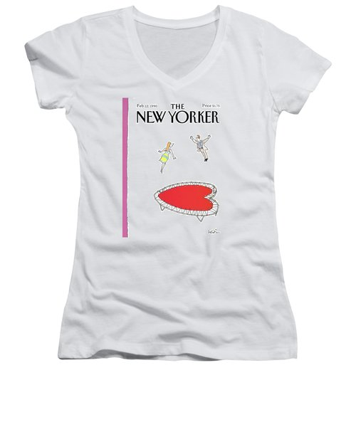 New Yorker February 12th, 1990 Women's V-Neck