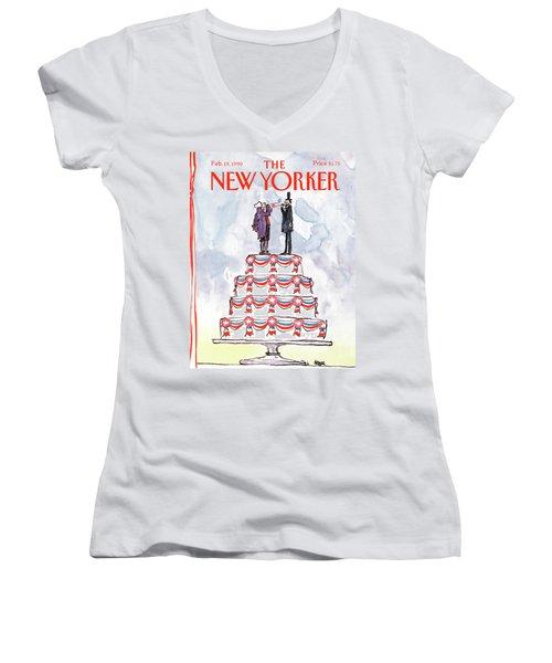 New Yorker February 19th, 1990 Women's V-Neck