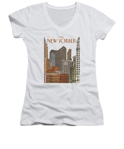 New Yorker February 1st, 1982 Women's V-Neck