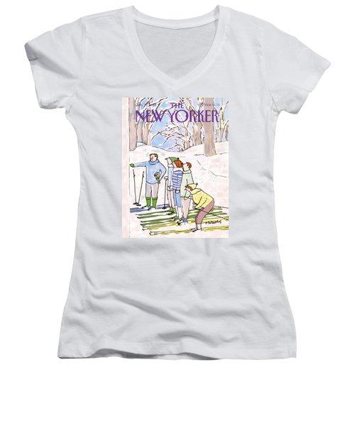 New Yorker January 11th, 1988 Women's V-Neck